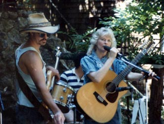 Tommy with Bonnie Chancellor in Boulder Creek, Ca. circa 80's